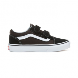 CHAUSSURES VANS OLD SKOOL V JUNIOR - BLACK WHITE