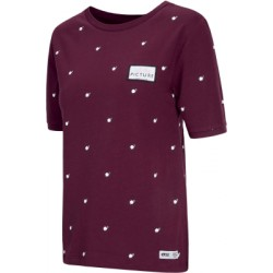 T-SHIRT PICTURE ORGANIC WMN KEISSY - BURGUNDY