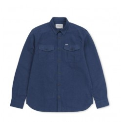 CHEMISE CARHARTT WIP VENDOR LS SHIRT - BLUE HEATHER