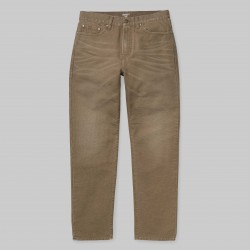 PANTALON CARHARTT WIP PONTIAC PANT - COTTON HAMILTON BROWN RINSED