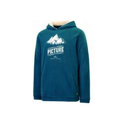SWEAT PICTURE ORGANIC HOOPER HOODY - PETROL BLUE