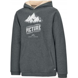 SWEAT PICTURE ORGANIC HOOPER HOODY - ANTHRACITE