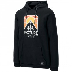 SWEAT PICTURE ORGANIC RIDERY HOODY - BLACK