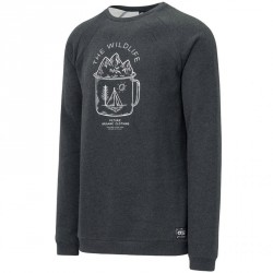 SWEAT PICTURE ORGANIC LIFER CREW - BLACK