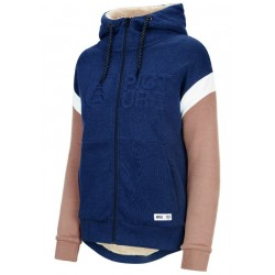 SWEAT PICTURE ORGANIC BASEMENT HOODY ZIP - DARK BLUE