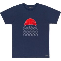 T-SHIRT BASK IN THE SUN TO THE SEA - NAVY