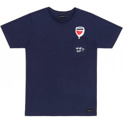 T-SHIRT BASK IN THE SUN WINE - NAVY
