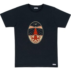 T-SHIRT BASK IN THE SUN OKTOPUS - BLACK