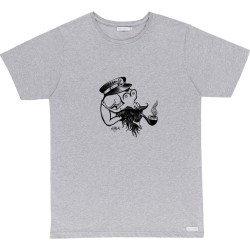 T-SHIRT BASK IN THE SUN FLIPGIRL - GREY