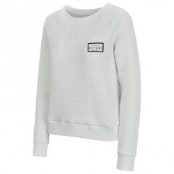 SWEAT PICTURE ORGANIC TESS - WHITE
