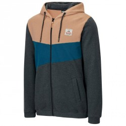 SWEAT PICTURE ORGANIC ORSON ZIP HOODY - ANTHRACITE SAND