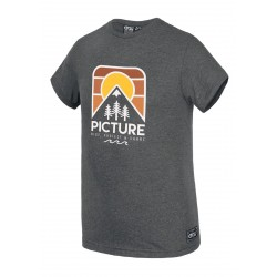 T-SHIRT PICTURE ORGANIC KID COUNTRY - ANTHRACITE