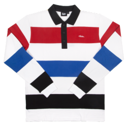 POLO TEALER RUGBY - WHITE