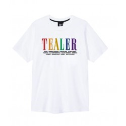 T-SHIRT TEALER GRASS FAMILY - WHITE