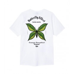 T-SHIRT TEALER BUTTERFLY - WHITE