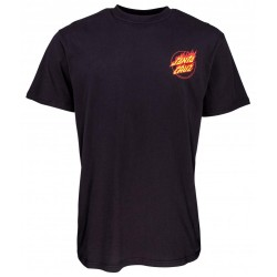 T-SHIRT SANTA CRUZ FLAME HAND - BLACK
