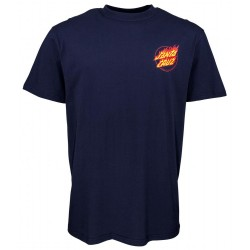 T-SHIRT SANTA CRUZ FLAME HAND - DARK NAVY