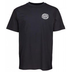 T-SHIRT SANTA CRUZ BONE WAVE - BLACK