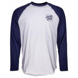 T-SHIRT SANTA CRUZ OPUS DOT BASEBALL - DARK NAVY WHITE