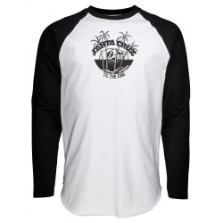 T-SHIRT SANTA CRUZ HRIZON LS BASEBALL - BLACK WHITE