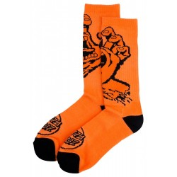 CHAUSSETTES SANTA CRUZ SCREAMING HAND MONO - FLURO ORANGE