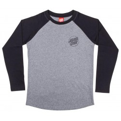 T-SHIRT SANTA CRUZ OPUS DOT BASEBALL YOUTH - BLACK HEATHER