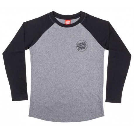 T-SHIRT SANTA CRUZ OPUS DOT BASEBALL - BLACK HEATHER