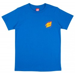 T-SHIRT SANTA CRUZ FLAME HAND YOUTH - ROYAL BLUE