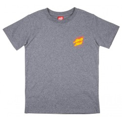 T-SHIRT SANTA CRUZ FLAME HAND YOUTH - DARK HEATHER