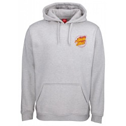 SWEAT SANTA CRUZ FLAME HAND - ATHLETIC HEATHER