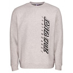 SWEAT SANTA CRUZ 2 COLOUR STRIP CREW - ATHLETIC HEATHER