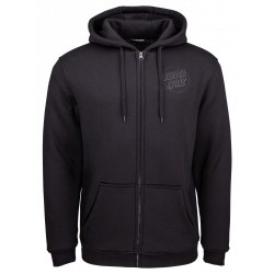 SWEAT SANTA CRUZ BLACOUT ZIP - BLACK