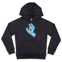 SWEAT SANTA CRUZ SCREAMING HAND YOUTH - BLACK