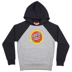 SWEAT SANTA CRUZ DOT REFLECTION YOUTH - BLACK HEATHER GREY