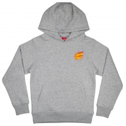 SWEAT SANTA CRUZ FLAME HAND YOUTH - HEATHER GREY