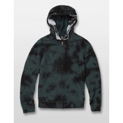 SWEAT VOLCOM COOL STONE FULL ZIP KID - EVERGREEN