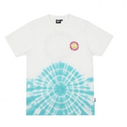 T-SHIRT TEALER WOODSTOCK PEACE LOVE TIE DYE - WHITE