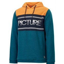 SWEAT PICTURE ORGANIC HAMPIO HOODY - PETROL BLUE