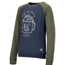 SWEAT PICTURE ORGANIC KID MUGER - ARMY GREEN