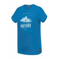 T-SHIRT PICTURE ORGANIC KID STARPY - OCEAN BLUE