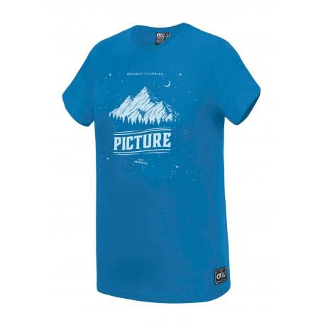 T-SHIRT PICTURE ORGANIC KID STARPY - OCEAN BLUE