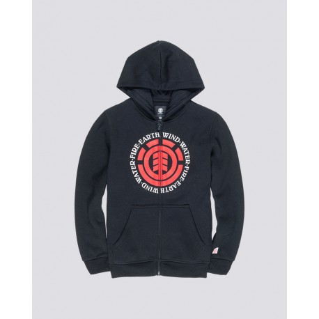 SWEAT ELEMENT SEAL ZIP HOODIE BOY - FLINT BLACK