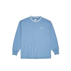 T-SHIRT POLAR STRIPED RIB LS - BLUE