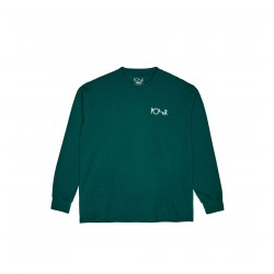 T-SHIRT POLAR STROKE LOGO LS - DARK GREEN
