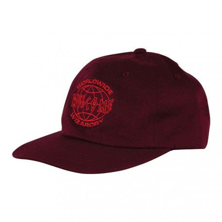 CASQUETTE WELCOME GLOBAL UNSTRUCTURED SNAPBACK - WINE RED