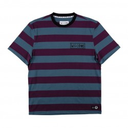 T-SHIRT WELCOME THICC STRIPE - PLUM SLATE