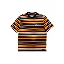 T-SHIRT WELCOME SURF STRIPE - CHEDDAR BLACK