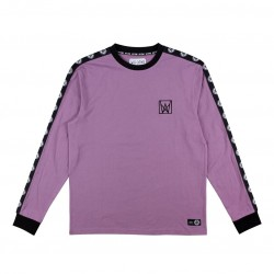 T-SHIRT WELCOME CHALICE TAPED LS - GRAPE BLACK