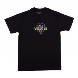 T-SHIRT WELCOME PEREGRINE - BLACK PURPLE