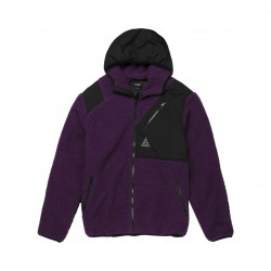 VESTE HUF AURORA JACKET TECH - PURPLE VELVET